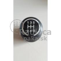 Hlavica radiacej páky Fiat Grande Punto, 5 stupňová, chrom