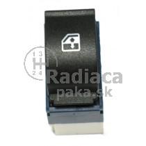 Ovládanie vypínač sťahovania okien Fiat Doblo, modro biely, 735417034