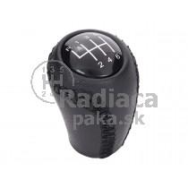 Hlavica radiacej páky Mazda 3, 6 stupňová, čierna, kožená