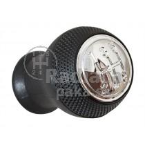 Hlavica radiacej páky Mazda 323F BJ, 5 stupňová, čierna, lesklý chrom