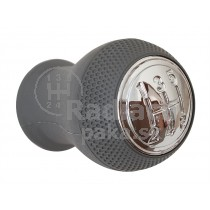Hlavica radiacej páky Mazda Premacy I, 5 stupňová, siva, lesklý chrom