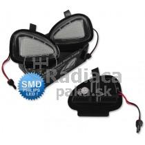 LED svetlo, podsvietenie spätného zrkadla, ľavé a pravé, VW Touran 10-15
