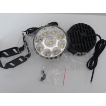 LED Denné osvetlenie DRL 04, 9 LED diod, okrúhle priemer 70mm