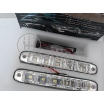 LED Denné osvetlenie DRL 07, 5 LED diod, oblé,