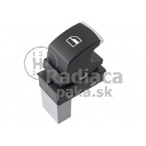Ovládanie vypínač sťahovania okien VW Caddy III 5ND959855, chróm
