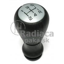 Hlavica radiacej páky Pegueot 207, 5 stupňova, chrom