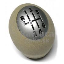 Hlavica radiacej páky Renault Fluence, 6 stupňová, béžova, chrom 1