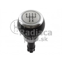 Hlavica radiacej páky VW Passat B6, 5 stupňová, strieborná