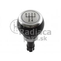 Hlavica radiacej páky VW Passat CC, 5 stupňová, strieborná