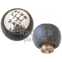 Hlavica radiacej páky Citroen C8, 6 stupňová, lesklý chrom, čierna schéma