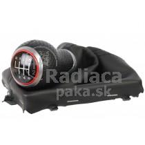 Radiaca páka s manžetou Audi A6 C6, 6 stupňová, červený krúžok