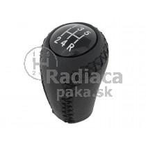 Hlavica radiacej páky Mazda 6, 5 stupňová, čierna, kožená