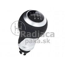 Hlavica radiacej páky Audi A6 C6, 6 stupňová, Čierna + Chrom