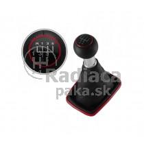Radiaca páka s manžetou 5 stupňová, rámček červený VW Bora Combi