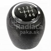 Hlavica radiacej páky Chevrolet Kalos, 6 stupňová, chrom