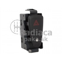 Vypínač výstražných svetiel Dacia Lodgy, čierny