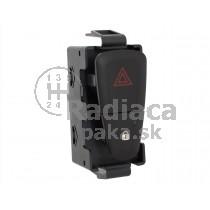 Vypínač výstražných svetiel Dacia Logan II, čierny