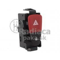Vypínač výstražných svetiel Renault Scenic III, červený