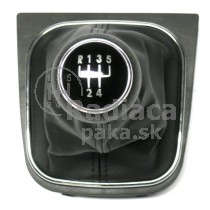 Radiaca páka s manžetou VW Golf VI, 5 stupňová, chromový ramček, 2008 - 2012